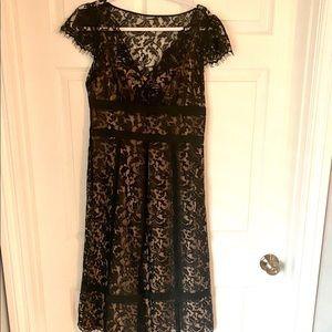 Ann Taylor Loft black lace cocktail dress - sz 8